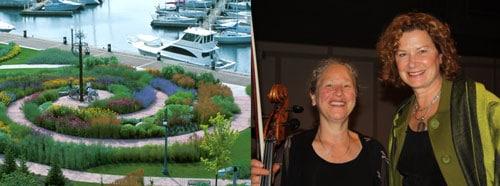 Cellist Judith Serkin and Julie Moir Messervy