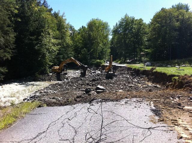 Swept Away:  Landscape Devastation in Southern Vermont