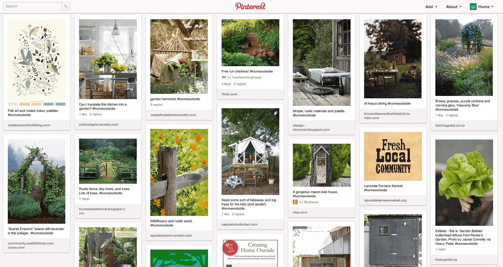 "Announcing the ""Creating Home Outside"" Pinterest Contest Winners!"