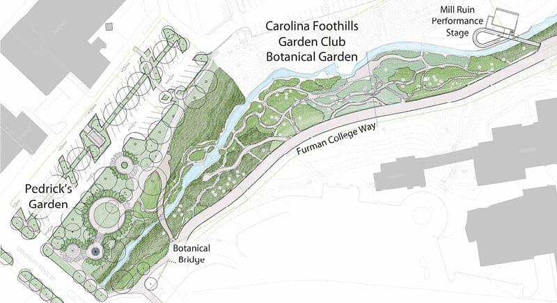 Greenville, NC - Little Falls Park - Pedricks Garden. Site plan by JMMDS
