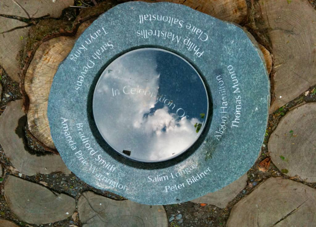 JMMDS View Remembrance Stone at Shore Country Day School