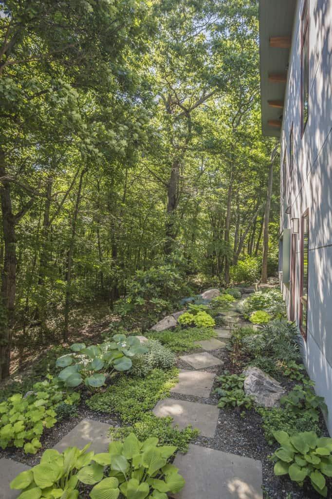 JMMDS Boston Area MA Garden Bluestone path, photo by Bill Sumner
