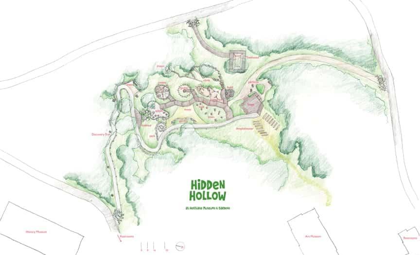 JMMDS Hidden Hollow at Heritage Museums and Gardens landscape plan
