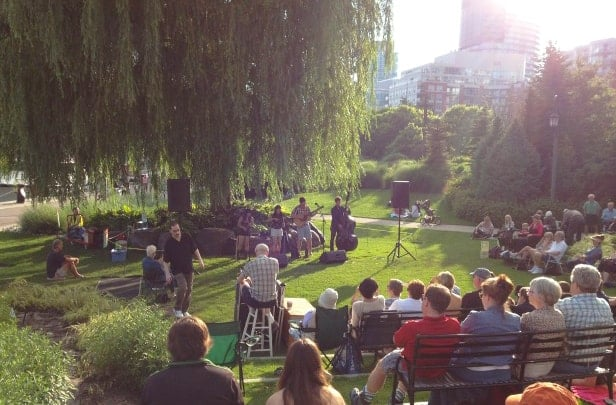 JMMDS The Toronto Music Garden, Gigue, The Bombadils--photo by Tamara Bernstein, Artistic Director of Summer Music In The Garden