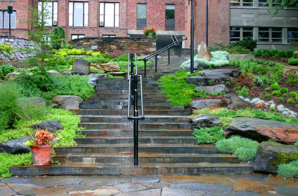 JMMDS, Mount Holyoke College Heckel garden steps