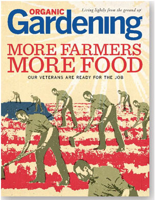 cover organic gardening magazine