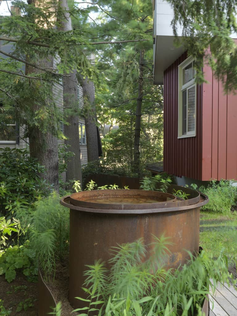 Corten steel water feature and rill. Design by JMMDS, Photograph by Susan Teare