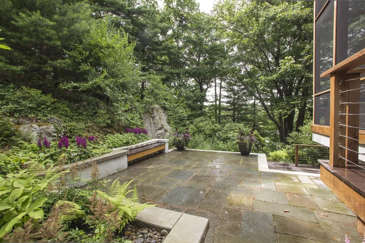 JMMDS Boston Area MA garden terrace, photo by Bill Sumner
