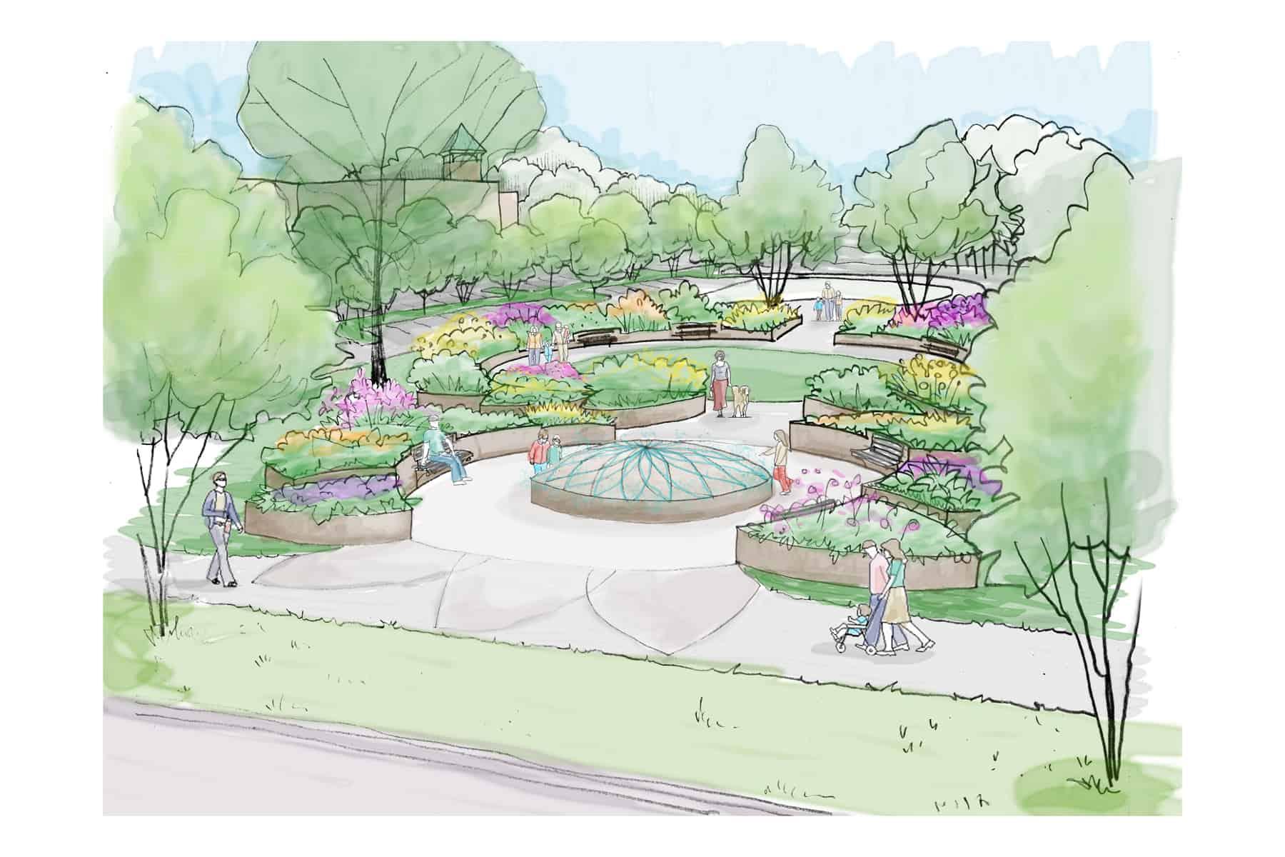 Little Falls Park - Greenville, NC - Concept Sketch by JMMDS