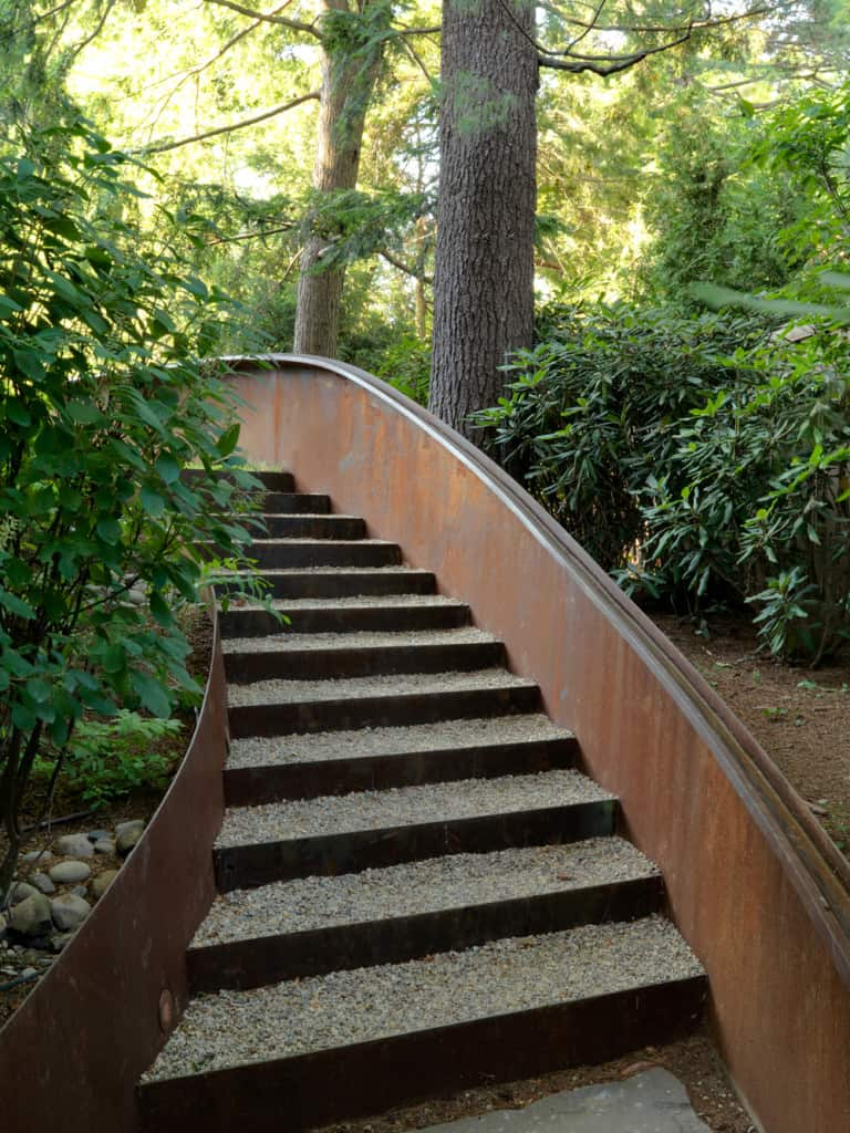 Permeable stairs, Landscape design by JMMDS, Photograph by Susan Teare