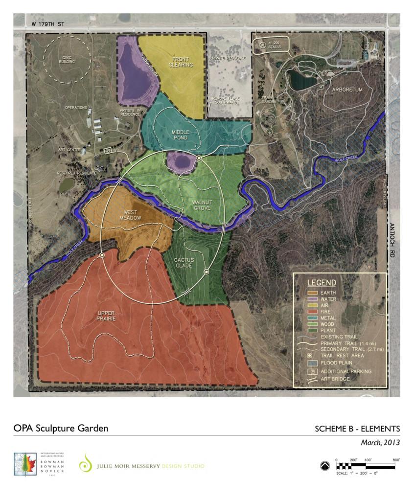 Scheme B - International Sculpture Garden, Overland Park Arboretum, Kansas