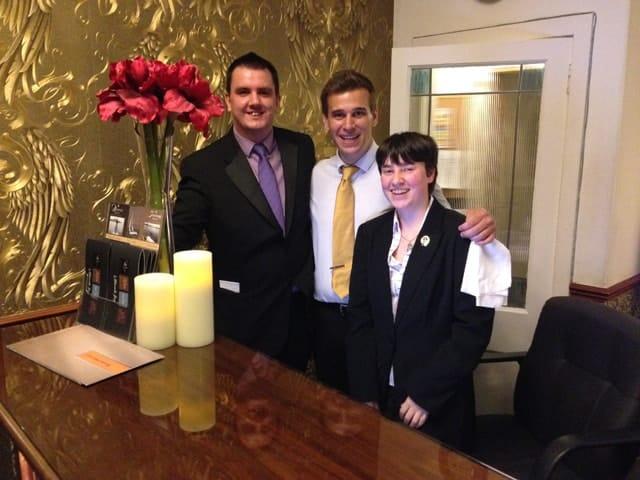 Mark, Matt, Eilidh at Duisdale Hotel