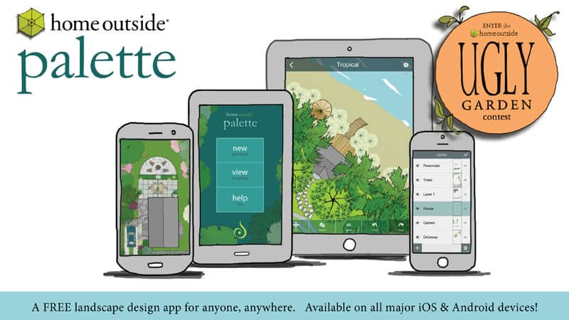 Home Outside Palette landscape design app & contest