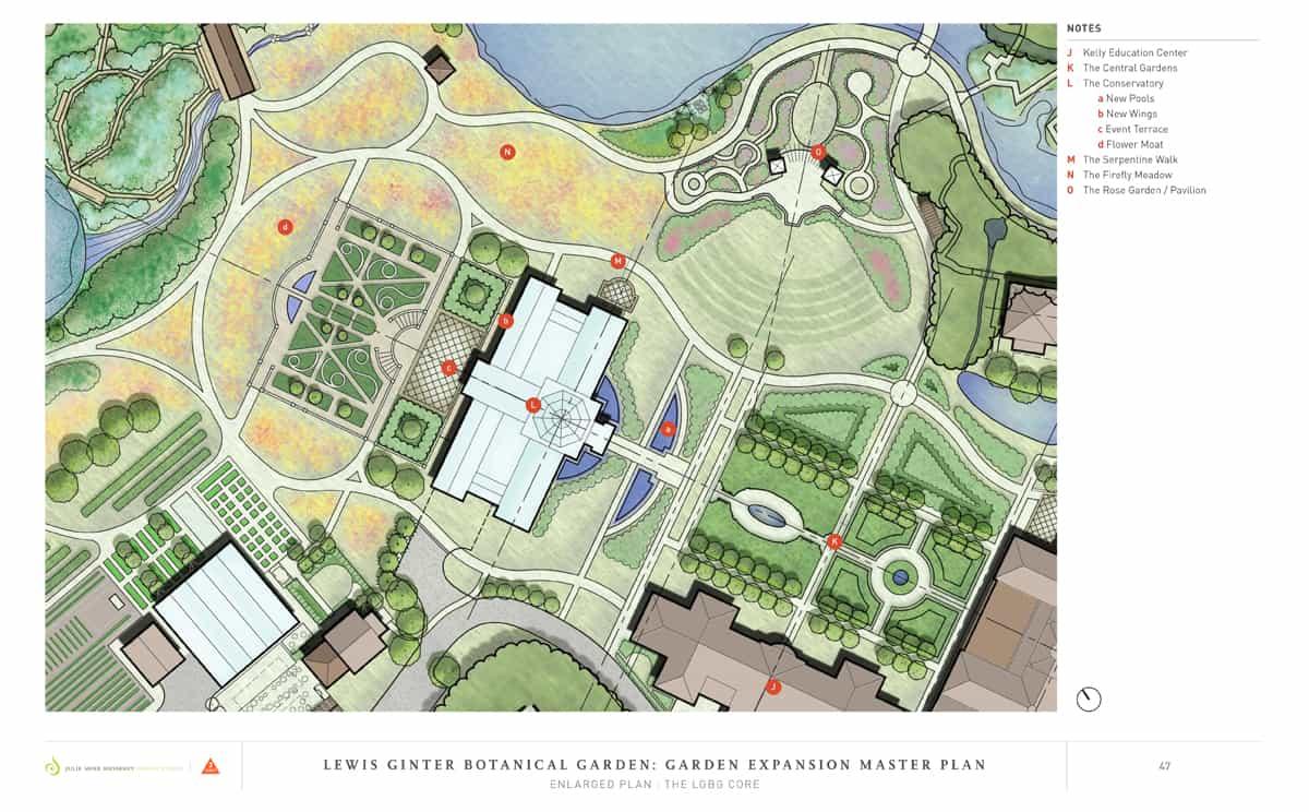 JMMDS Lewis Ginter Botanical Garden master plan detail