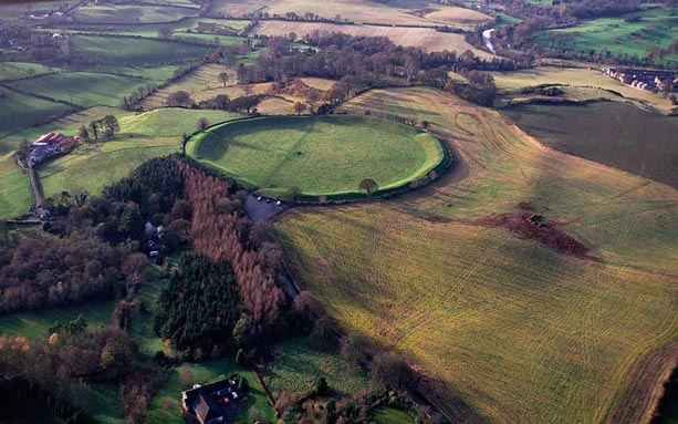 Aerial view of the Giant's Ring.