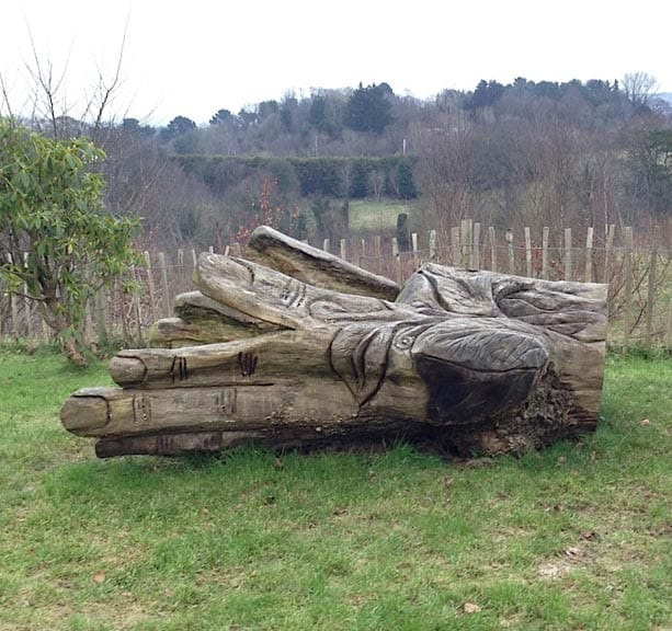 The Park also includes chainsaw art arrayed along its miles of paths.