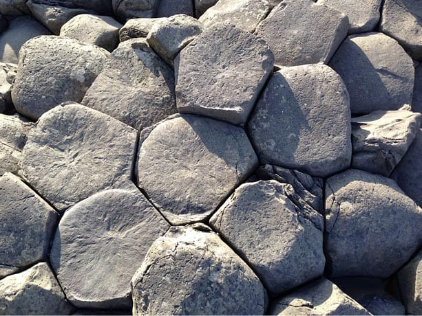 Hexagonal stones at the Giant's Causeway