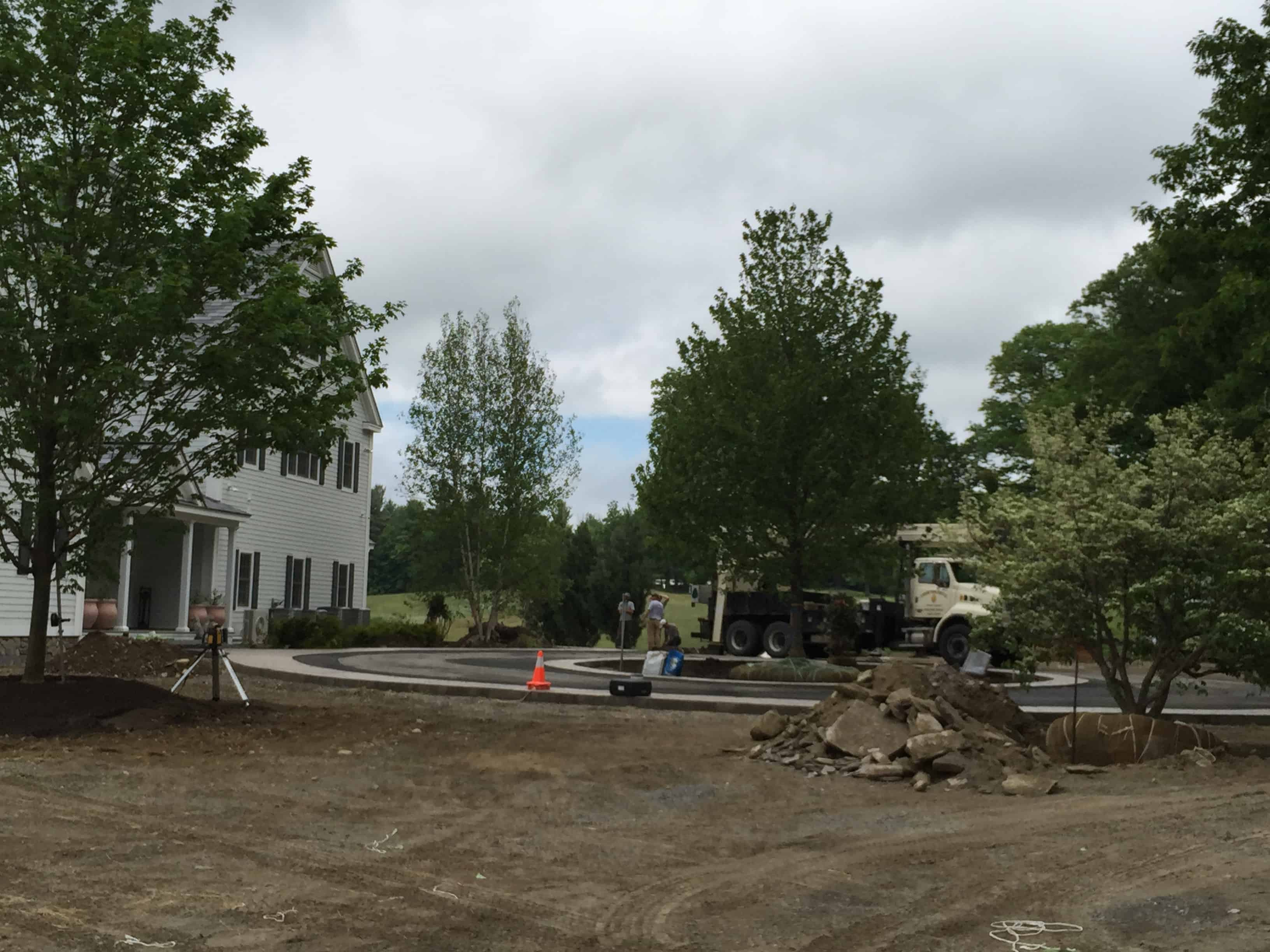 With the trees planted, the new landscape will look settled and mature.