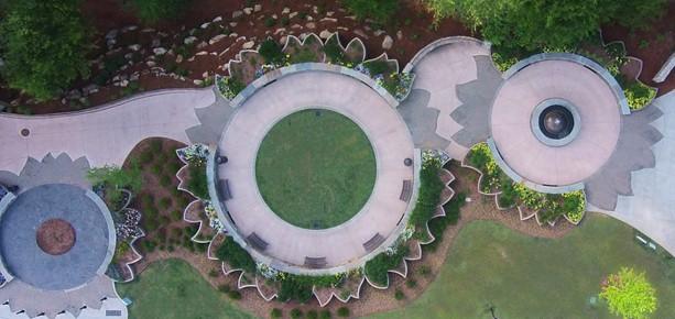 Aerial photograph of Pedrick's Garden