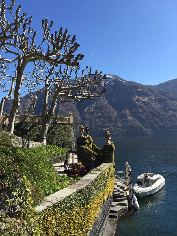 The waterfront and steps to the Villa del Balbianello.