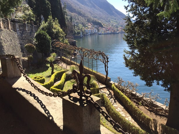 Wrought iron arches along Lake Como