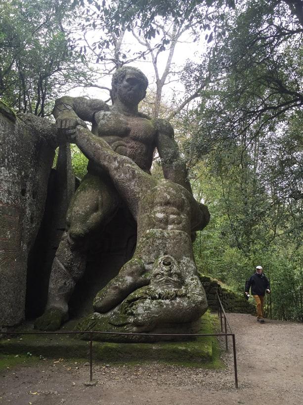 Massive stone figures.