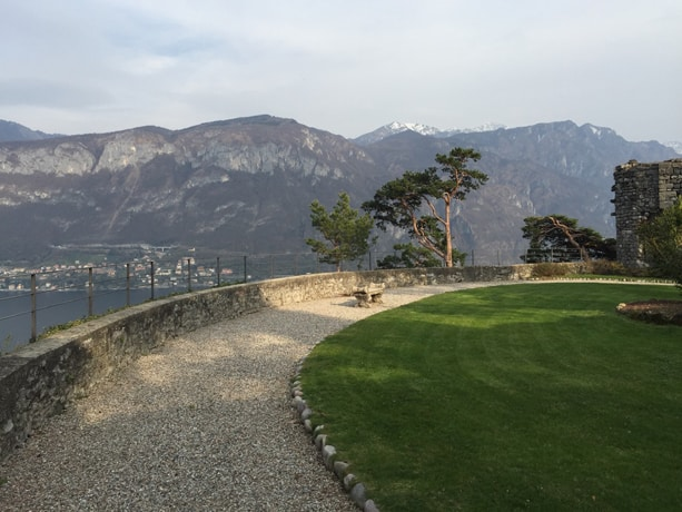 The fort at the top of the Villa Serbelloni.