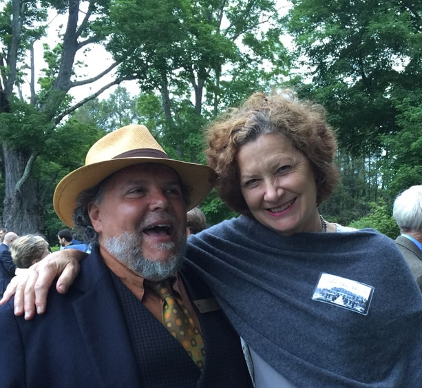 John Forti and Julie Moir Messervy at Mass Hort