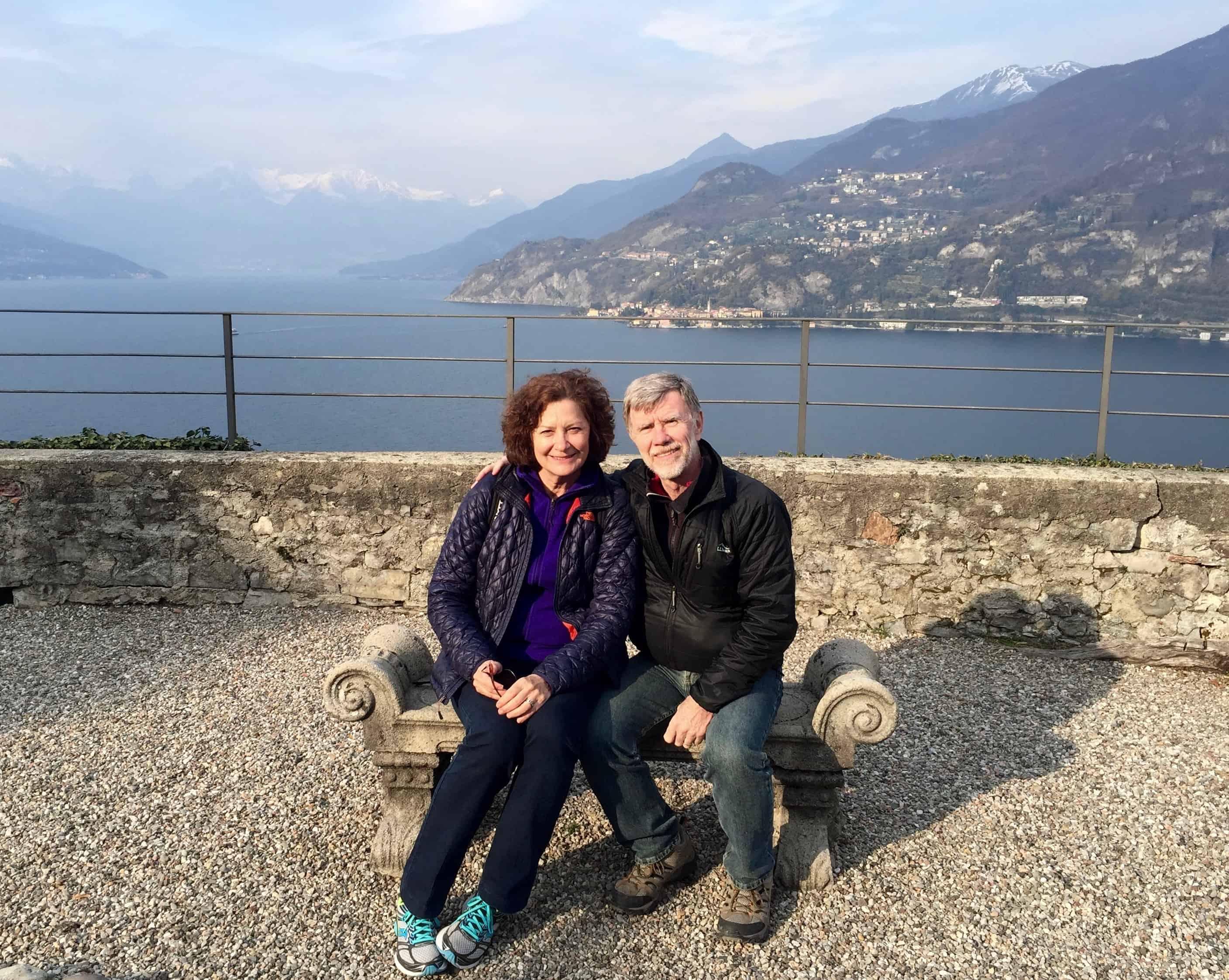 Julie and Steve at the Villa Serbelloni