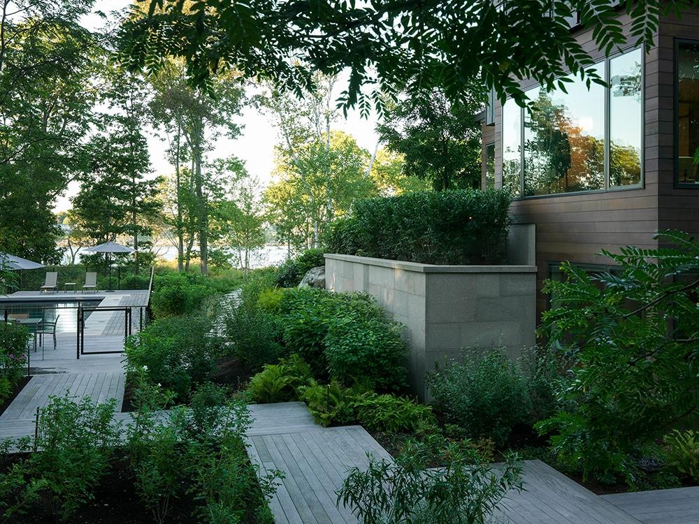 JMMDS-landscape-architecture-maine-coast-modern-home-plank-path-pool-terrace-native-plantings